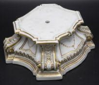 Postament / Sockel / A pedestral, Meissen, Punktzeit 1756-1774