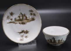 Koppchen mit Unterschale / A tea bowl with saucer, wohl Köppelsdorf / Thüringen, Ende 19 Jh.