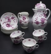 14-teiliges Kaffeeservice / A 14-piece coffee service, Wallendorf, 1787-1833