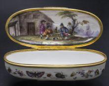 Rokoko Tabatiere mit Insekten und Genreszene / A snuff box with a genre scene, deutsch, um 1740