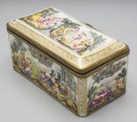 Deckeldose / Tabatiere / A box with cover / snuff box, Capo di Monte, Neapel, 18./19. Jh.