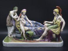 Figurengruppe 'Aeneas und Dido', Karl Ens, Volkstedt, um 1900