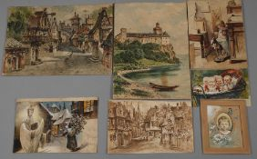Emil Rieck, Sammlung Aquarelle