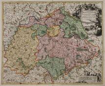 Johann Baptist Homann, Sachsenkarte