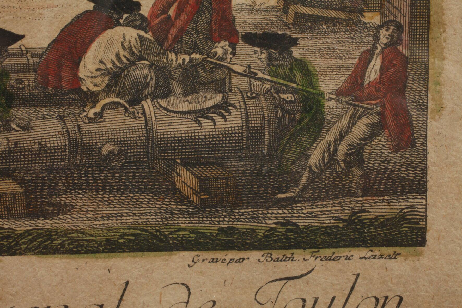 "Guckkastenblatt ""Das Arsenal in Toulon"" - Image 3 of 3"