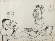 nach Pablo Picasso, Beim Vorlesen