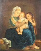 RAFFAEL (1583 - 1520) after. Madonna della Sedia (Seggiola).
