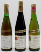 Bischöflich Trier. 3 whole bottles of Riesling. White wine. Moselle. Germany.