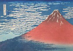 "After HOKUSAI (1760 -1849). ""Gaifu Kaisei"", South wind, clear weather."