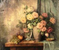 Carl FISCHER (1887 - 1962). Roses. Still life.