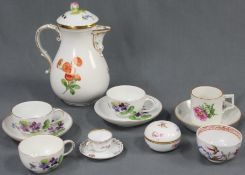 Set of porcelain. Old. Also Meissen and Nymphenburg.