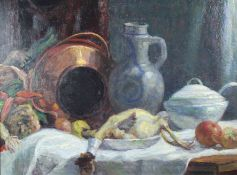 Wilhelm RUNZE (1887 - 1973). Still life in the kitchen.