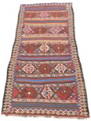 Shah- Savan Stripe Kilim. Caucasus. Antique, approx. 120 - 160 Jahre alt.