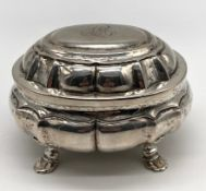 Sugar bowl silver, tested. Gilded inside.