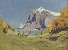 Hanns MAURUS (1901 - 1942). ''Wetterhorn Grindelwald''