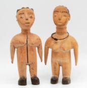 2 fertility figures. Probably Fante (Akan) Ghana. West Africa.