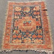 Bakhtiar Persian carpet. Gul Farang rug. Around 80 - 120 years old.