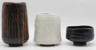 Horst KERSTAN (1941 - 2005). 3 vases all signed and dated.