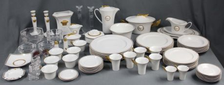 Rosenthal Versace porcelain. Dining service and coffee service for 6 people.