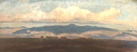 Oswald ACHENBACH (1827 - 1905). ''Römische Campagna''.