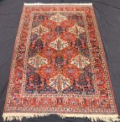 Bakhtiar Persian carpet. Field carpet. Iran. Around 80 - 100 years old.