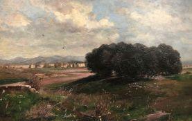 Othmar BRIOSCHI (1854 - 1912). An Italian village.