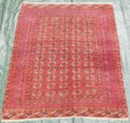 Tekke main carpet. Turkmenistan. Around 80 - 120 years old.