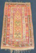 Erzurum kilim prayer rug. Eastern Anatolia. Turkey. Antique, around 100 - 150 years old.