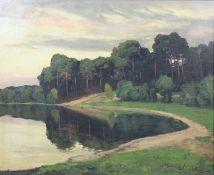 "Walter LEISTIKOW (1865 - 1908). ""Grunewaldsee"""