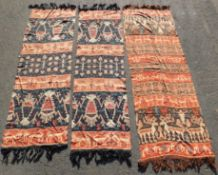 3 Panels Sumba Ikat Indonesia. Probably old. Good firm grip.