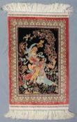 Hereke silk tapestry. Turkey. Insanely fine weave, 18 x 18.