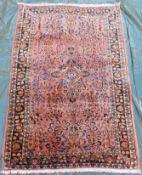 "Saruk Persian carpet. ""American Saruk"". Iran. Circa 100 years old."