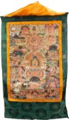 Tibetan thangka Shakyamuni. Hand painted. Old.