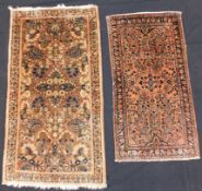 "2 Saruk Poschti ""American Saruk"". Persian carpets. Iran, about 80 - 110 years old."