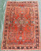 Mohajaran Saruk Persian carpet. Iran, about 90 - 110 years old.