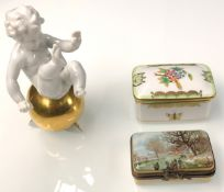 Box Herend. Box of Limoges. Porcelain.