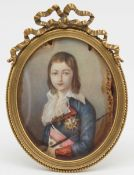 MINIATURE. Louis XVII (1789) after Alexander KUCHARSKI (1741 - 1819).