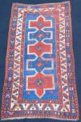 Kazak carpet. Caucasus. Antique, around 100 - 150 years old.