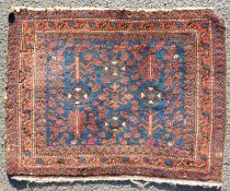 Baluch bag front. Tree pattern. Antique. Around 120 - 180 years old.