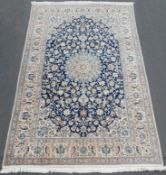 Nain Persian carpet. Iran. Fine weave.