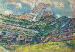 Pedro FLORES (1897 - 1967). Mountains.