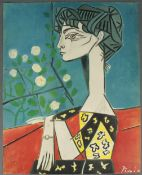 Pablo PICASSO (1881 - 1973). Madame Z, Jaqueline with flowers.