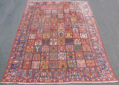 Bakhtiar Persian carpet. Field pattern. Iran. Around 80 - 120 years old.