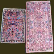 "2 Saruk ""American Saruk"". Persian carpets. Iran, about 80 - 110 years old."
