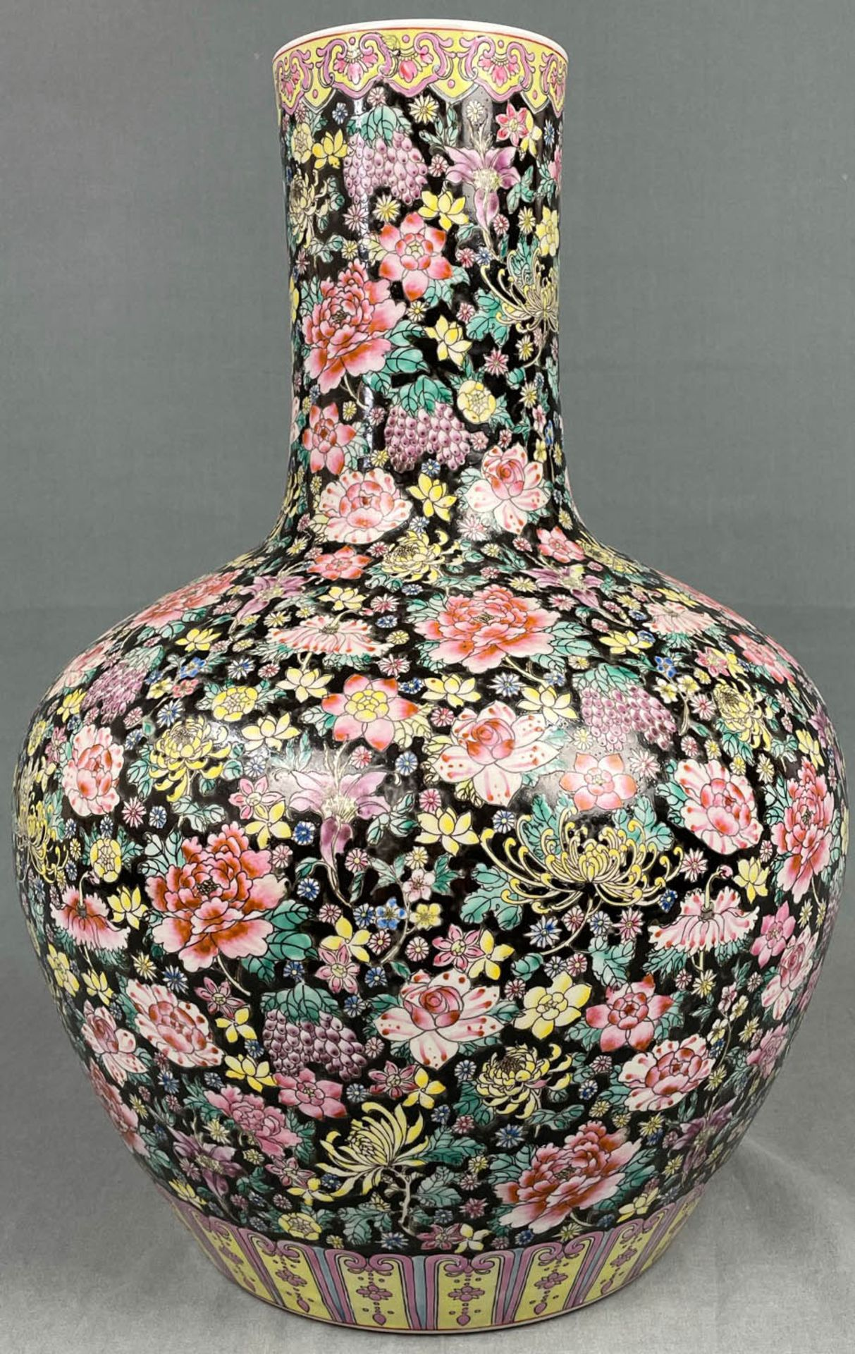 China. Porzellan. Vase. Stempelmarke circa 1930 - 1950. 53 cm hoch. - Image 3 of 20