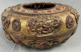 Duftgefäß? Wohl Rauchbrenner, Tibet antik.