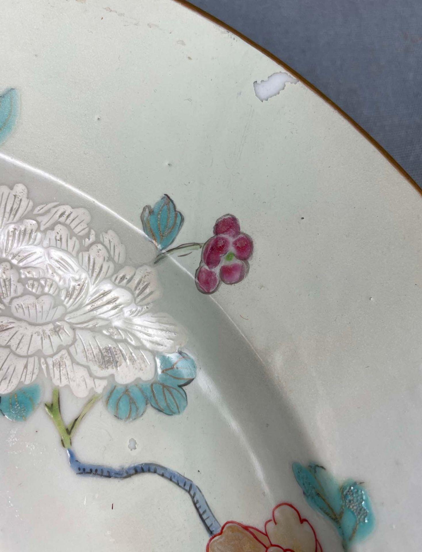 2 Platten. Porzellan. Wohl China antik. - Image 15 of 16