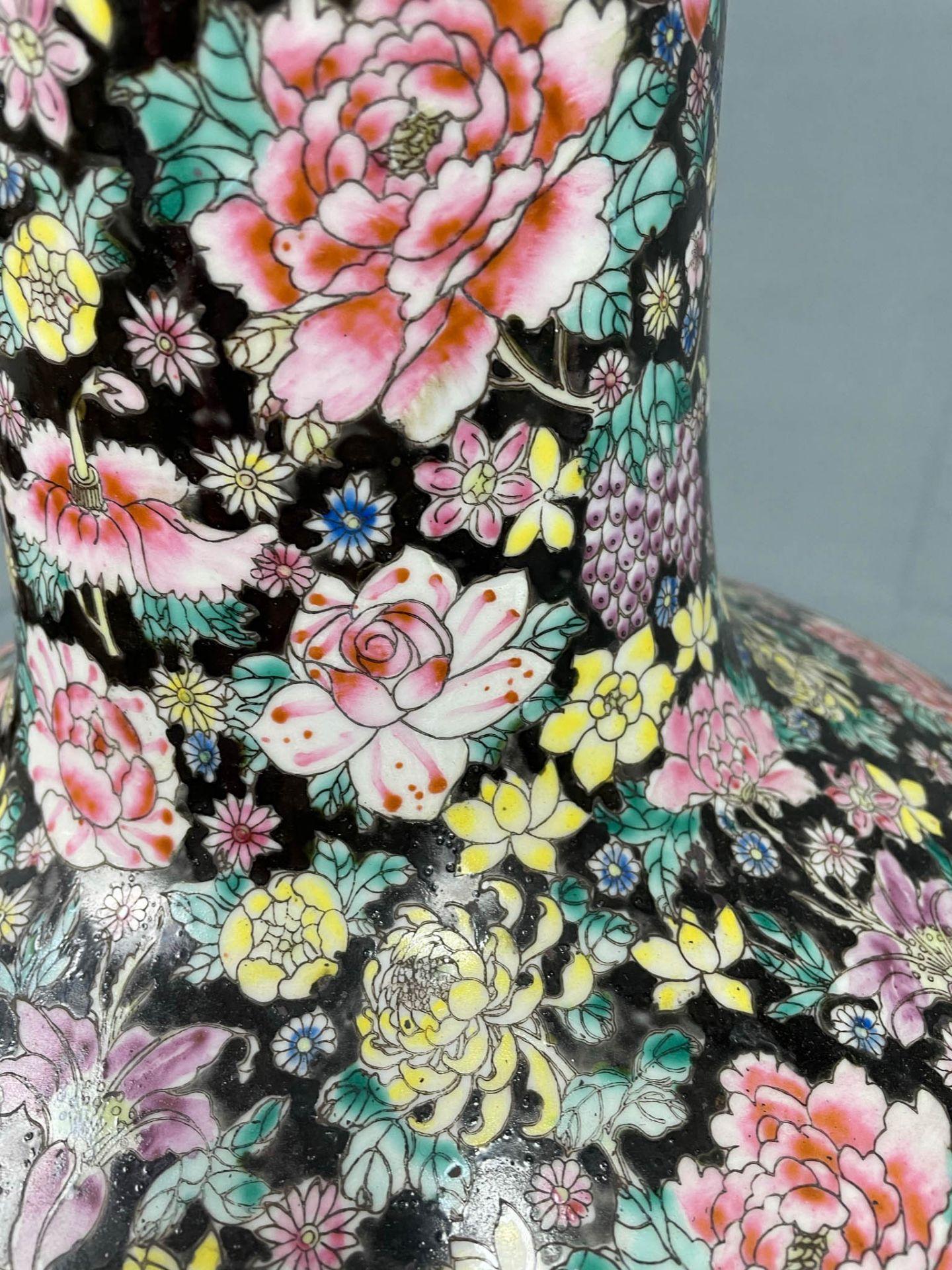 China. Porzellan. Vase. Stempelmarke circa 1930 - 1950. 53 cm hoch. - Image 8 of 20