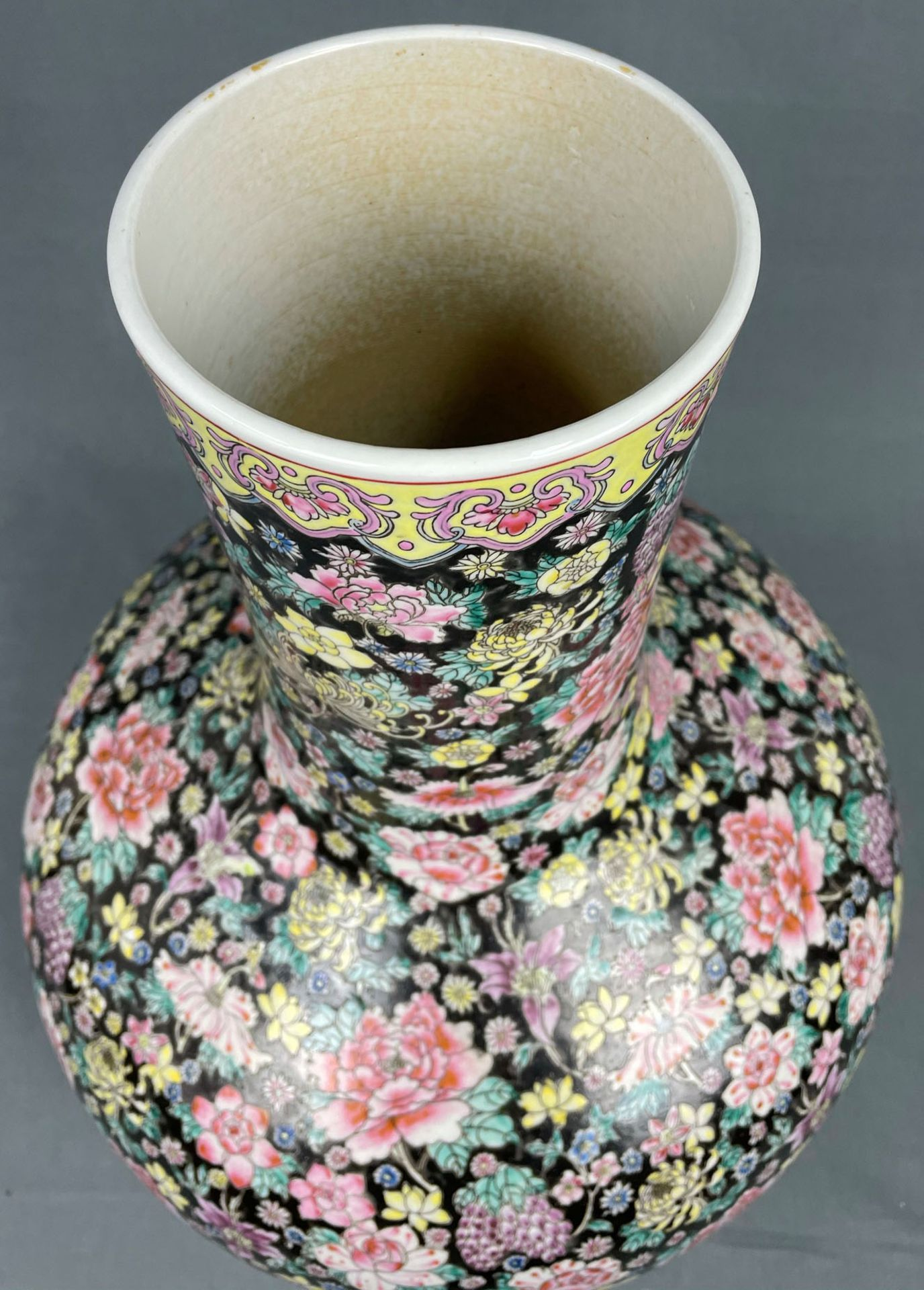 China. Porzellan. Vase. Stempelmarke circa 1930 - 1950. 53 cm hoch. - Image 7 of 20