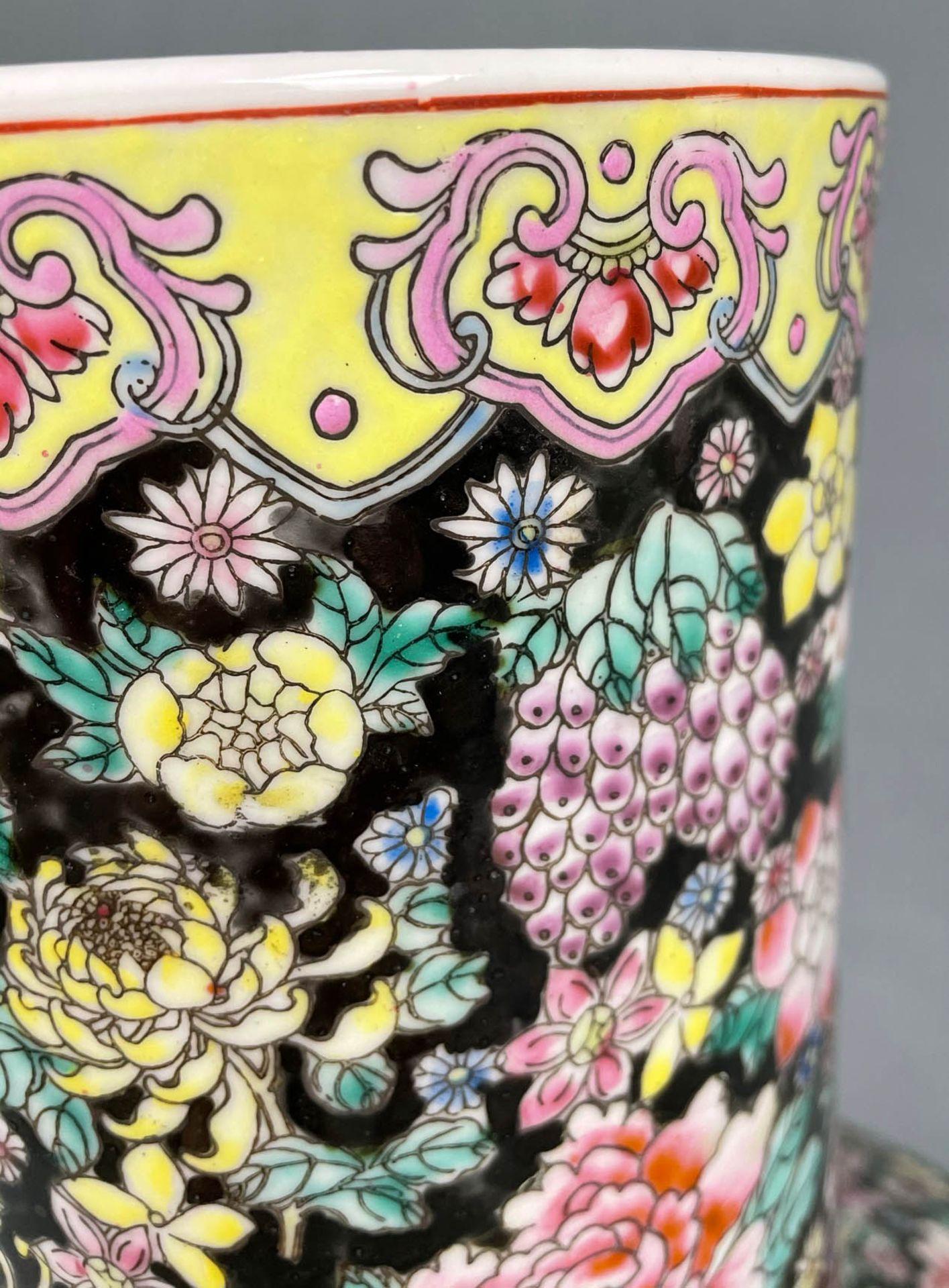 China. Porzellan. Vase. Stempelmarke circa 1930 - 1950. 53 cm hoch. - Image 15 of 20